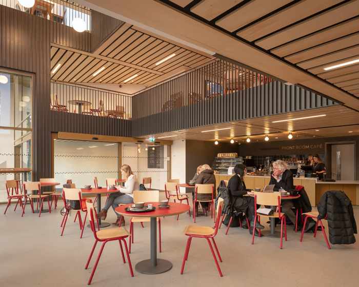 a new cafe at street level was created