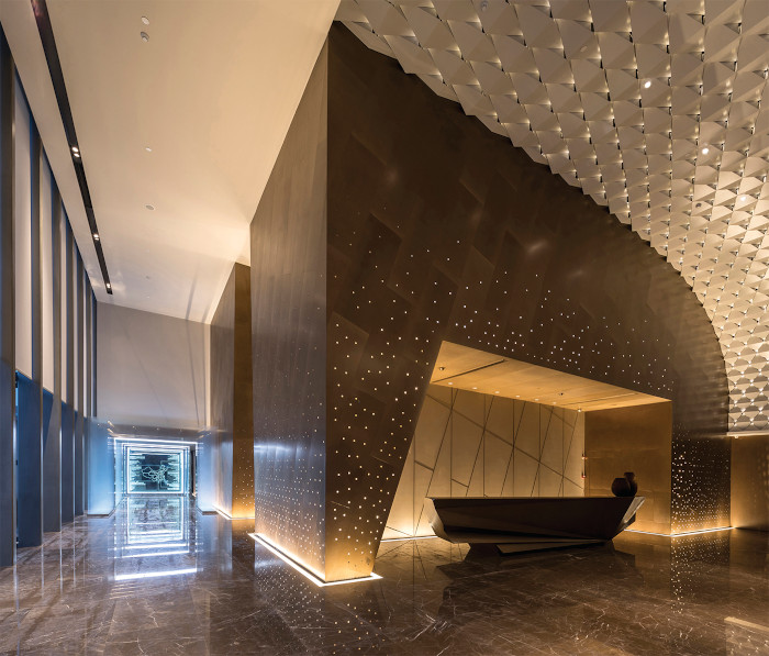 The Shanghai Sunac Sales Center won the Integration Project of the Year at the Lighting Design Awards 2019. It was designed by Brandston Partnership Inc
