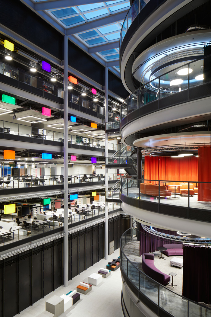 The BBC's Welsh HQ is conceived as a colourful civic space with a variety of areas to suit different ways of working