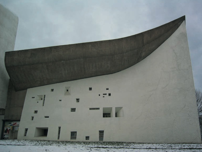 Le Corbusier's Ronchamp chapel. Image Credit: LUCIE2BEAUGENCY