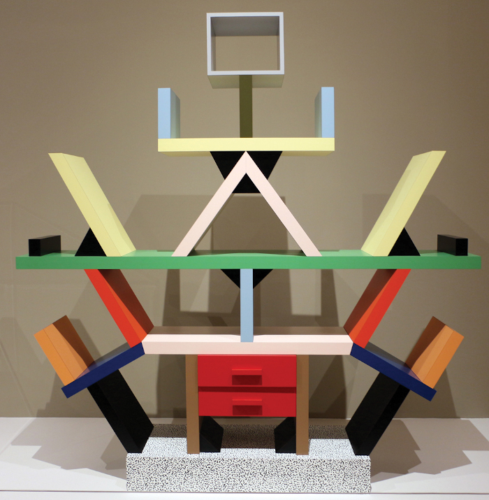 Akan names Ettore Sottsass as one of his radical thinkers. Pictured here is the designer's Carlton bookcase. Image credit: Sailko.