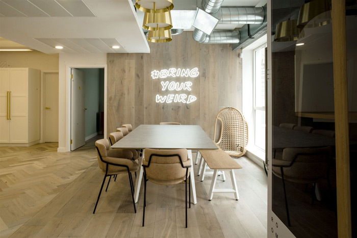Quadrant designed the offices of Anthemis, a venture capitalist company that is based in Soho Square, London. Image Credit: RS Brown Photography