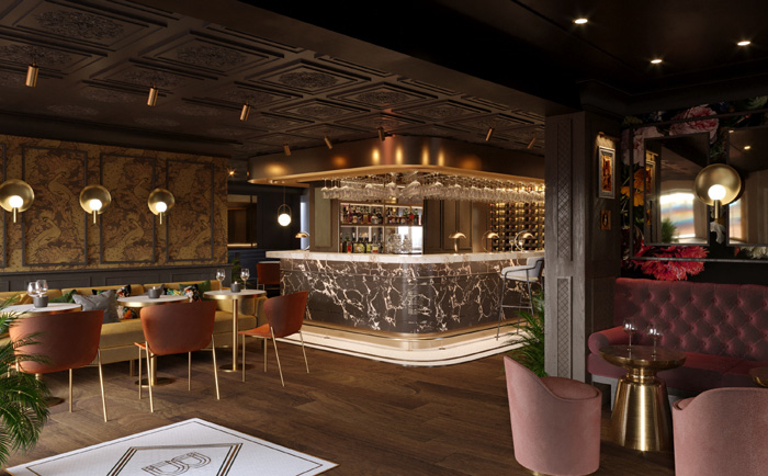 A new bar and restaurant for both residents and non-residents is located on the hotel's ground floor