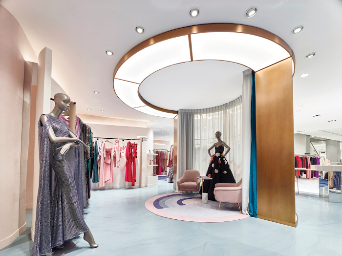 Located in the Mall of the Emirates, the interior design for Harvey Nichols 'aims to break a traditional department store mould'