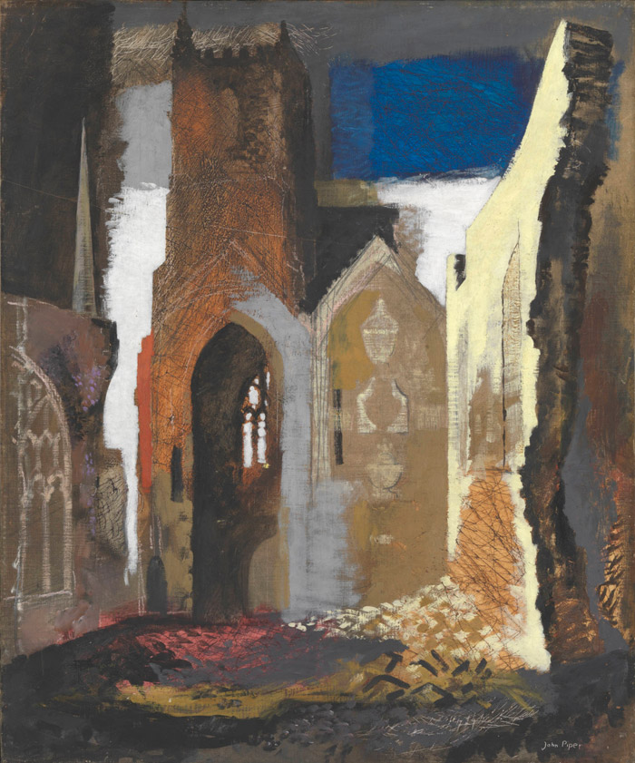 John Piper St Mary Le Port, Bristol, 1940 Available to view at Tate Britain, © Tate