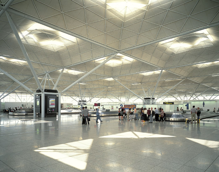 The airport's arrivals area