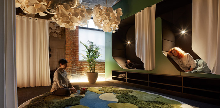 tp bennett allowed for spaces of sleep and personal privacy, meditative reflection and sociability