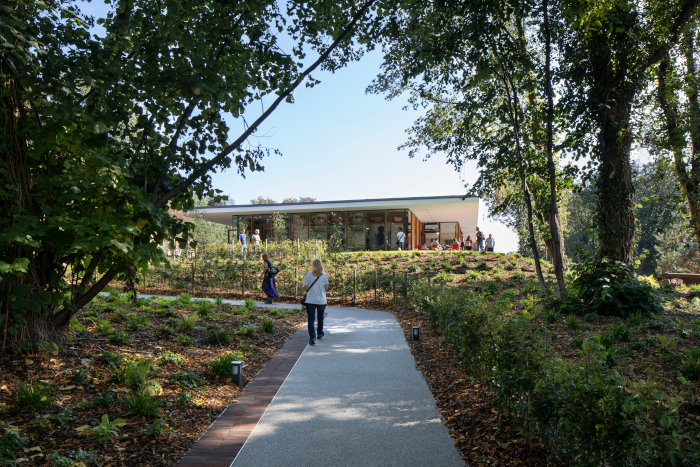 Hoskins Architects redesigned Strawberry Field for both a charity-run adult learning centre and the Beatles fans who visit the gardens. Image Credit: GILLIAN HAYES