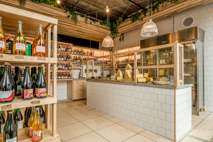 The Two Belly cheesemonger, also newly installed in Engine House Developments, offers a selection of cheese and advice on which beers go best with which cheese. Image Credit: FRANKLIN + FRANKLIN