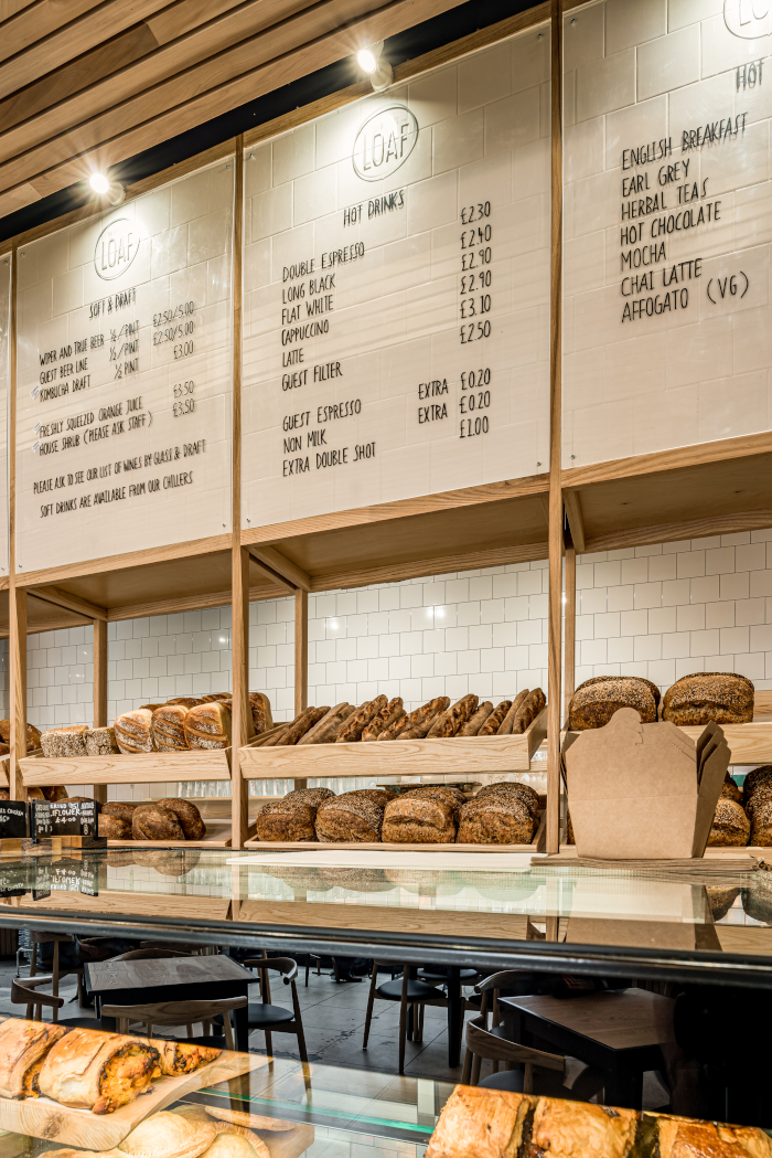 The centrepiece is the bread display, the aromas of which have been designed to spread deliciously through the space. Image Credit: FRANKLIN + FRANKLIN