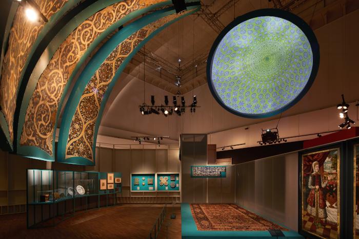 Gort Scott designs 'Epic Iran' exhibition for V&A. Image Credit: ED REEVE