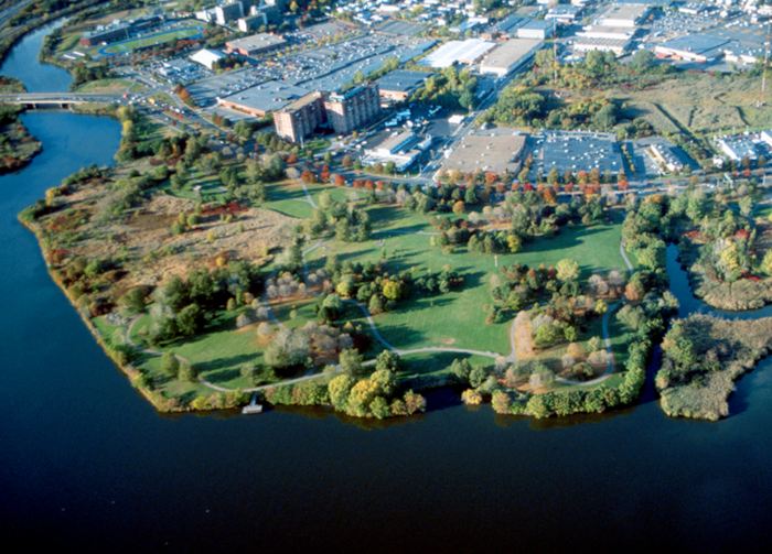 The Mystic River Reservation, nestled between Boston and Cambridge, Massachusetts