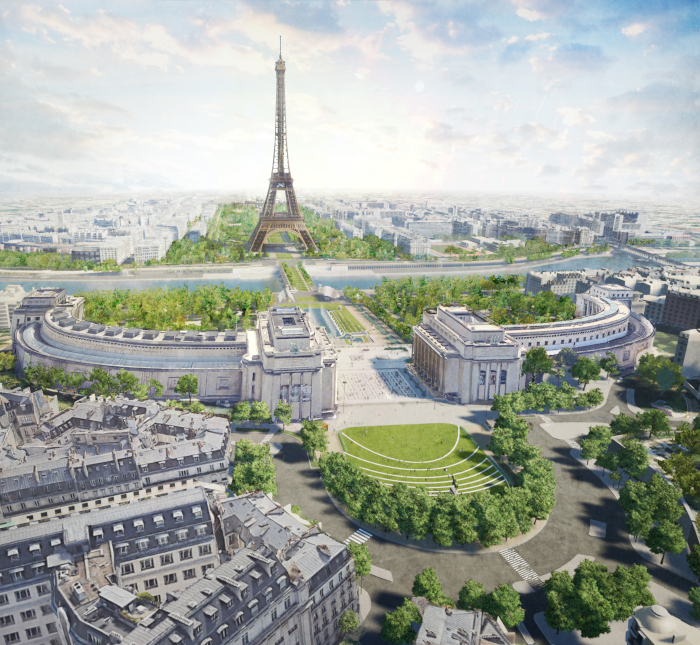 The planned biodiverse corridor in central Paris, designed by Gustafson Porter + Bowman; a major symbol of the city's belief in new forms of urban planning. Image Credit:GUSTAFSON PORTER + BOWMAN