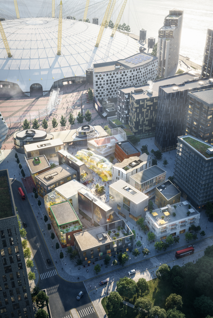 Image Credit: TARAN WILKHU. Greenwich Peninsula's Design District will have 16 buildings built by eight architects