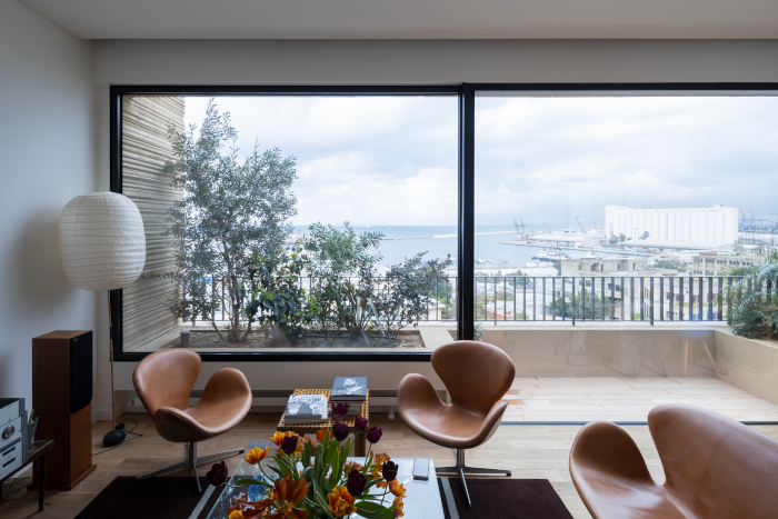 Inside the Beirut apartment, looking out towards the dockside. Image Credit: IWAN BAAN