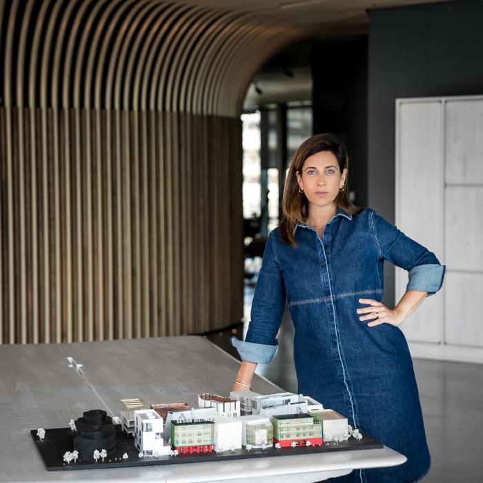 Helen Arvanitakis has been director of Design District London since 2019. Image Credit: TARAN WILKHU