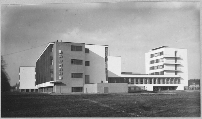 Image Credit: KLAUS HERTIG. The famous Bauhaus Dessau facade, shortly after completion in 1926