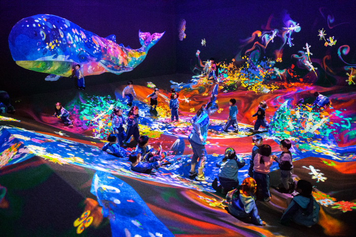 teamLab, a creative collective based in Japan, creates stunning lightworks, inducing wonder from every age group
