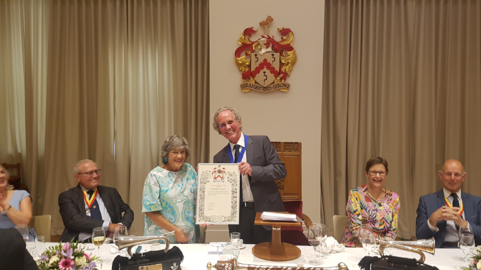 Cherrill Scheer receives inaugural Stanley Wharton Award