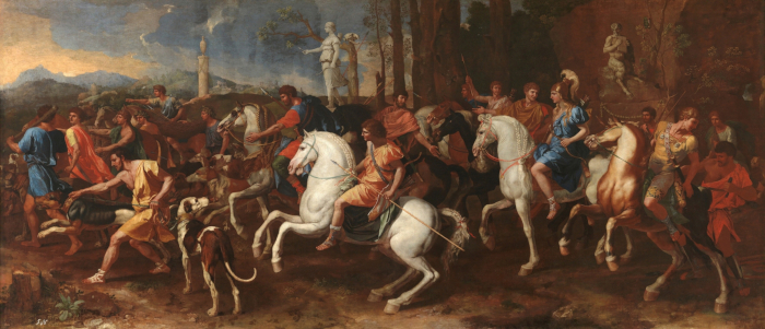 Nicolas Poussin, The Hunt of Meleager, oil on canvas, 160x360cm, circa 1634–39, Madrid, Museo Nacional del Prado. Image Credit: Nicolas Poussin, The Hunt of Meleager, oil on canvas, 160x360cm, circa 1634–39, Madrid, Museo Nacional del Prado