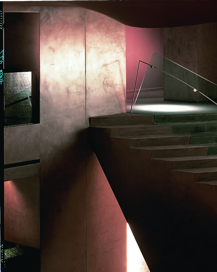 A staircase in Paramount Hotel in New York, opened by Ian Schrager and designed by Philippe Starck, which reconceptualised what a hotel could be. Image Credit: PHILIPPE STARCK