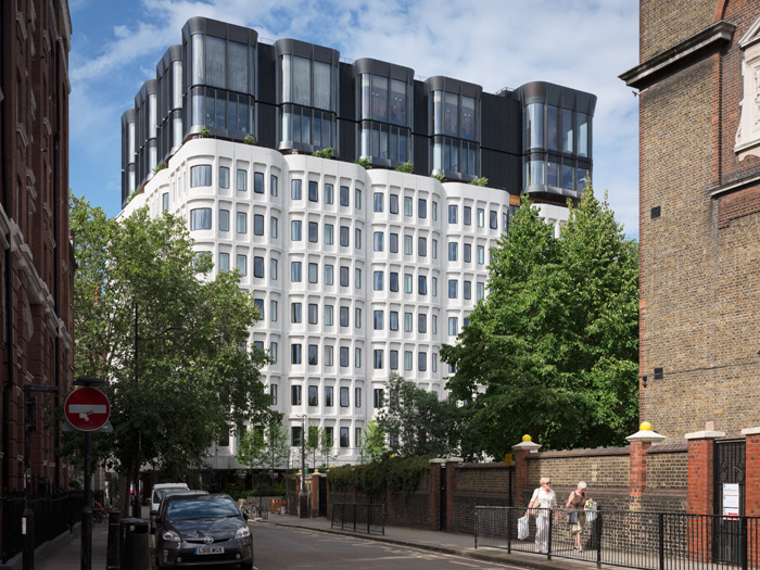 Adding three new-build storeys to the existing structure was a key component of the brief