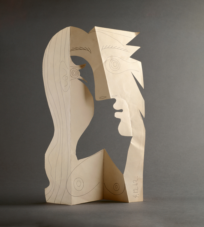 Pablo Picasso, Head of a Woman, 1962 – Pencil on cut and folded wove paper