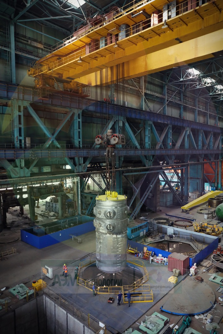 Hydraulic testing has been completed on the reactor pressure vessel for Turkey's Akkuyu 1 (Photo: AEM Technologies)