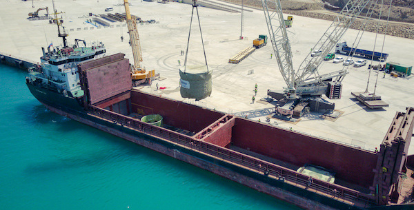 The core catcher for unit 1 of the Akkuyu nuclear power plant arrived in August (Photo: Akkuyu NPP)