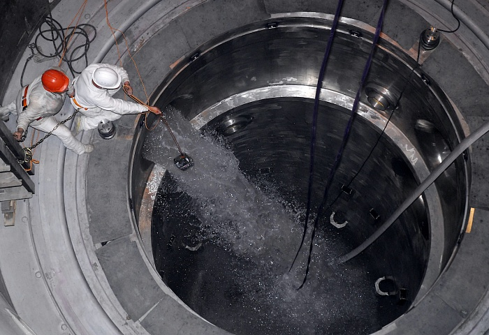Flushing of the primary systems has started at unit 2 of the Belarus nuclear power plant (Credit: ASE)