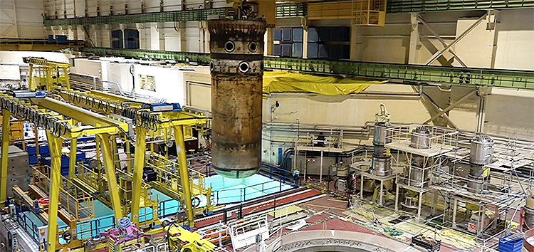 The reactor pressure vessel has been removed from Bohunice V1 (Photo: EBRD)