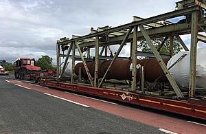Chapelcross ducts in transit (Credit NDA/LLWR)