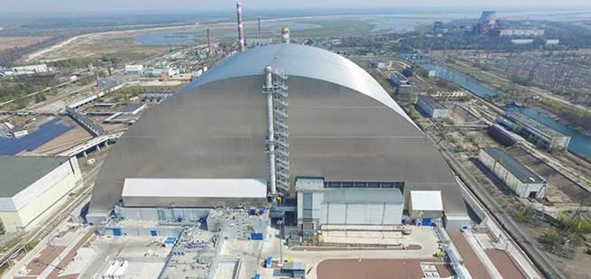 Chernobyl new safe confinement (Credit: EBRD)