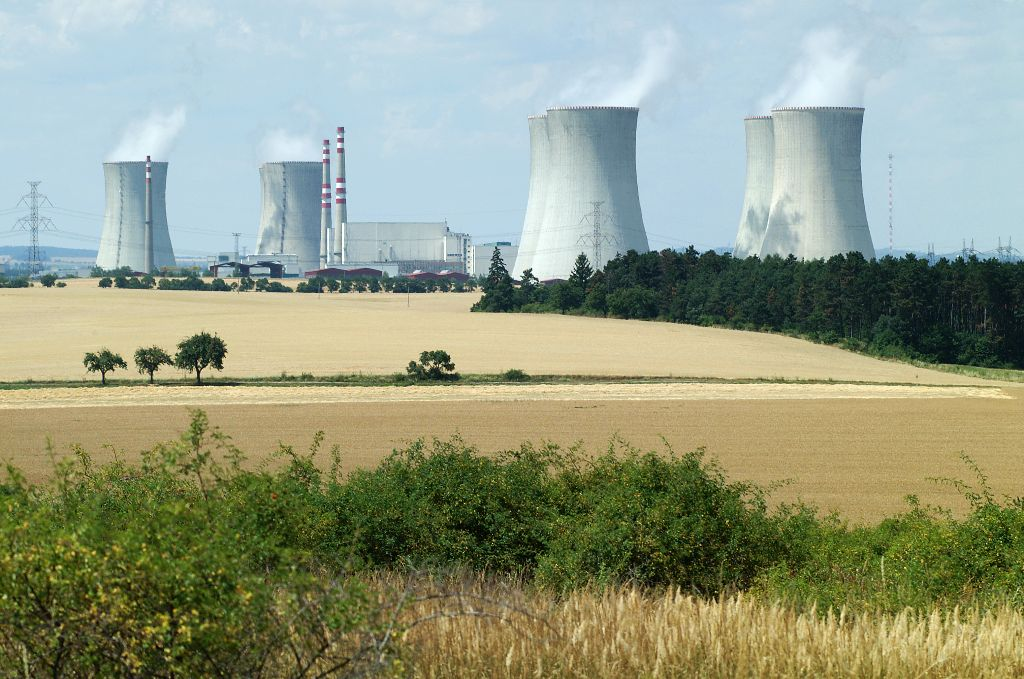 The Dukovany nuclear power plant in the Czech Republic