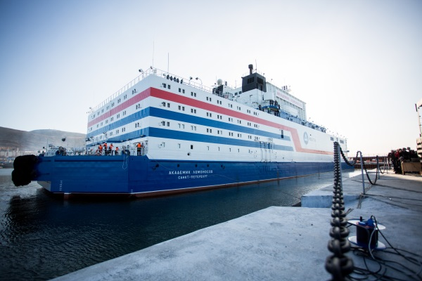 Floating Nuclear Power Plant (FNPP) on route to Pevek