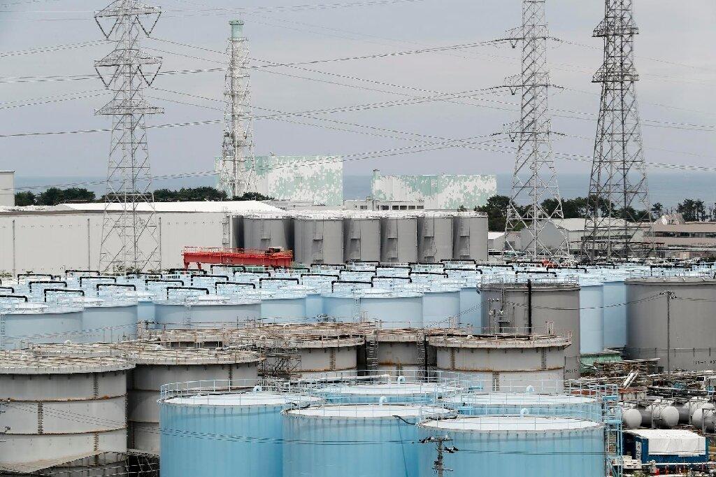 Tanks storing treated water at the Fukushima Daiichi nuclear power plant (credit: Tepco)