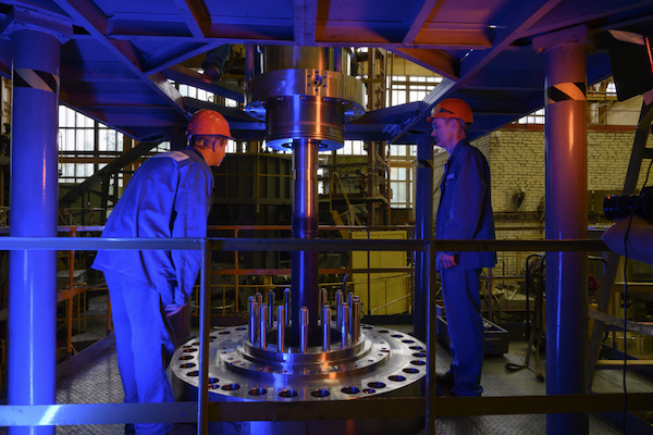 Tests on the main circulation pump unit GTsNA-1753 are undeway (Credit: Atomenergomash)