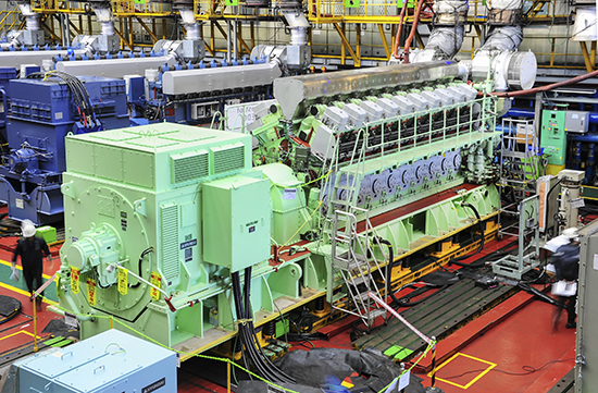 Hyundai Heavy Industries emergency generator