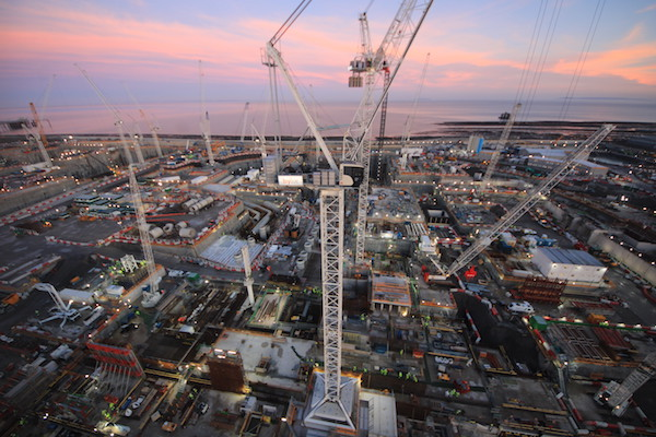 Construction Hinkley Point C unit 1 in January 2020 (Credit: EDF Energy)