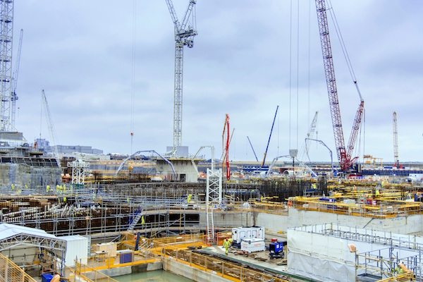 Nuclear island constuction at Hinkley Point C1