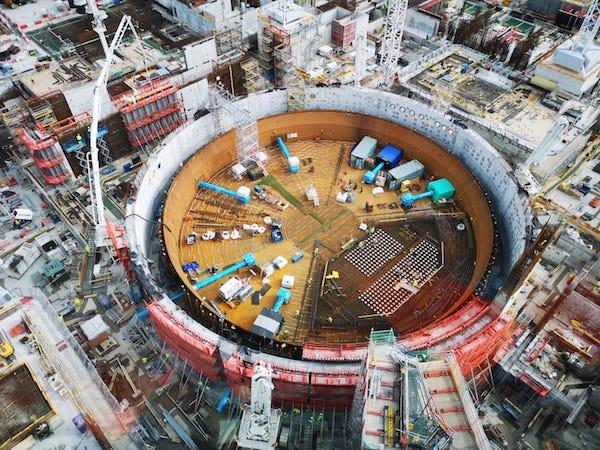 Hinkely Point C under construction (photo: EDF Energy)