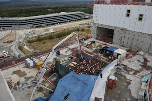 Final concrete pour for Iter tokamak building (Credit Iter Organization)