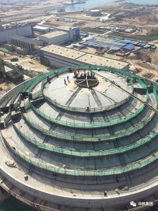 Dome at Pakistan's Karachi 2 nuclear power plant (Credit: CNNC)