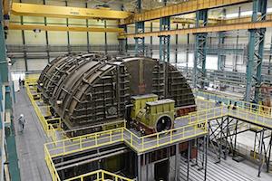 Half speed turbine prototype for VVER-TOI (Photo credit: Power Machines)