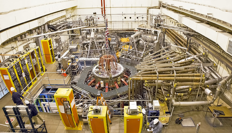 NSTX pictured in 2016 (Credit PPPL)