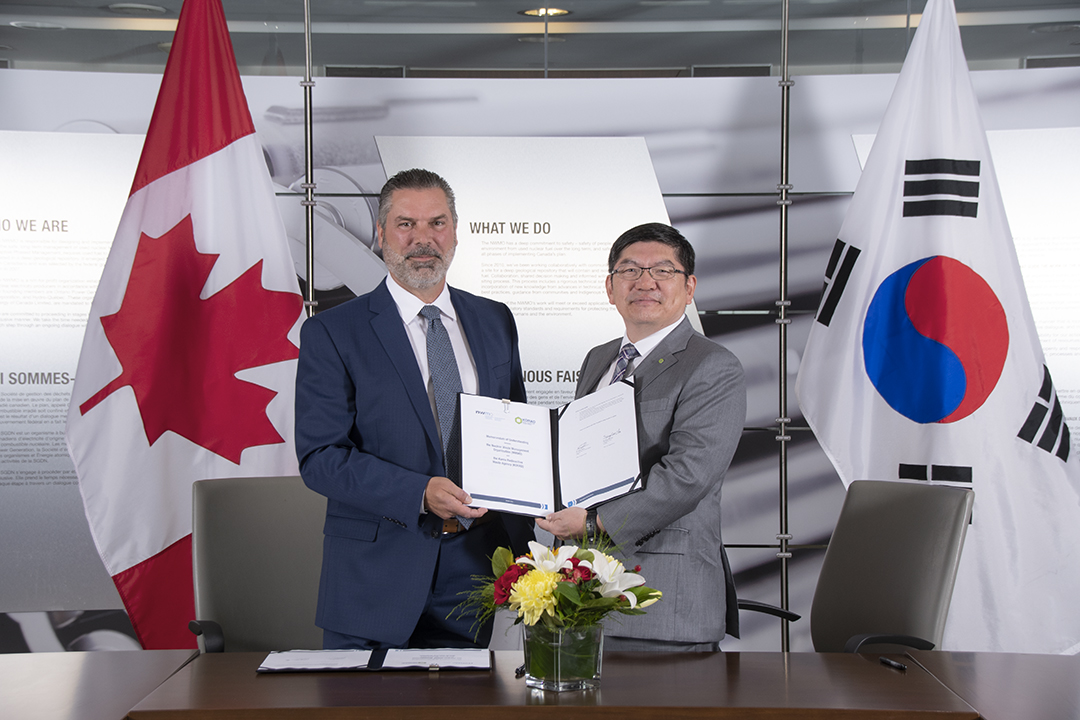 Canada's NWMO and South Korea's KORAD sign a cooperation agreement