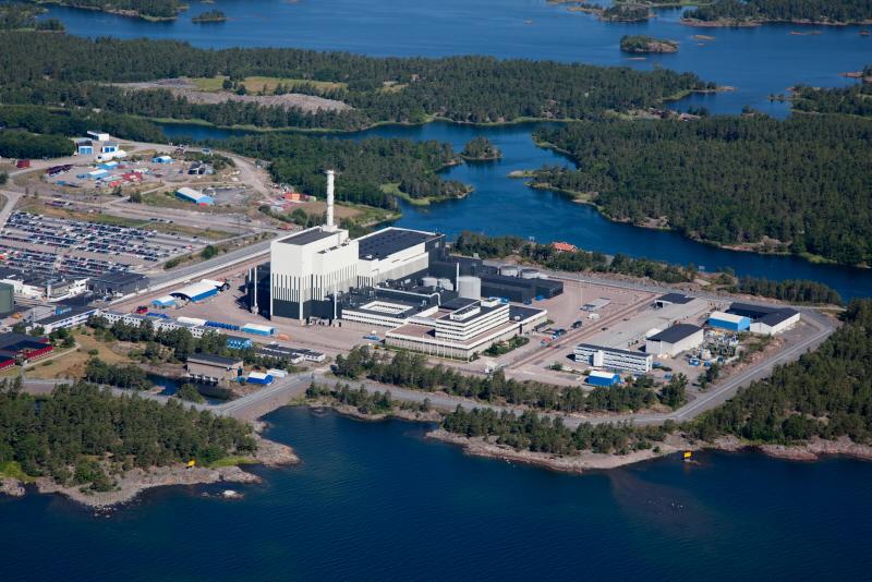 Aerial view of Oskarshamn 3 (Photo: OKG)