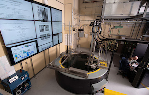 Purdue's nuclear reactor now has digital capabilities that allow for preventive maintenance, a longer facility lifespan and big data applications. (Purdue University image/Vincent Walter)