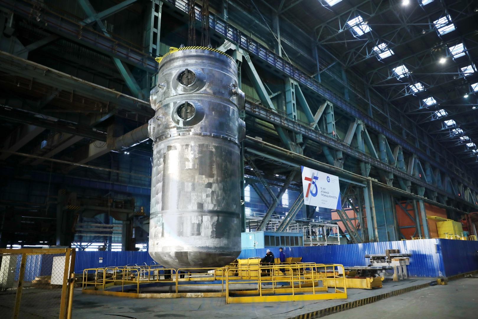 VVER-TOI reactor pressure vessel for unit 1 Russia's Kursk-II nuclear plant (credit; Atomenergomash)
