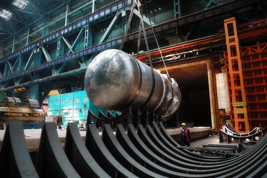 The reactor pressure vessel for Rooppur 1, a VVER-1200 (Photo: Atomenergomash)